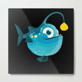 Fish Ocean Design Whale Swimming Seal Fun Sea Gift Metal Print