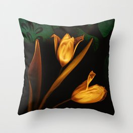 Tulips of the golden age Throw Pillow