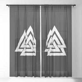 Valknut Sheer Curtain