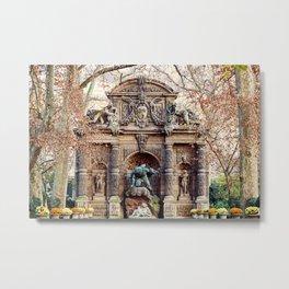 Medici Fountain in Autumn Metal Print