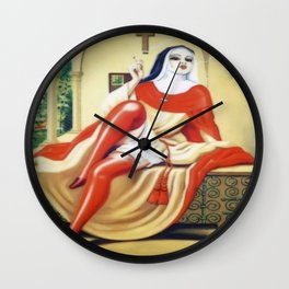 Smoking Nun Wall Clock