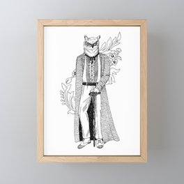 The Owl: Athena Framed Mini Art Print