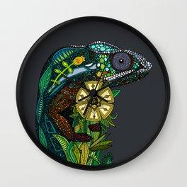 chameleon pewter Wall Clock