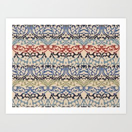 Caucasian traditional ornament Art Print