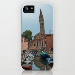 Burano Island Italy Canal Boats iPhone Case
