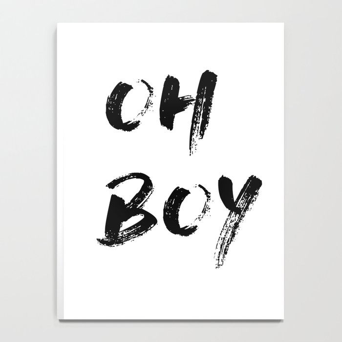 OH BOY Quote Notebook