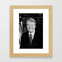 President Jimmy Carter Framed Art Print