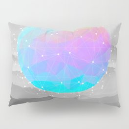 Worlds That Never Were (Geodesic Moon) Pillow Sham