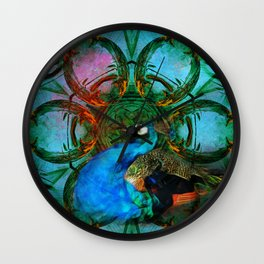 The peacock universe Wall Clock
