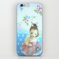 ballerina iPhone & iPod Skins featuring Ballerina by Vintage  Cuteness