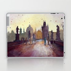 Prague, watercolor explorations in violet  Laptop & iPad Skin