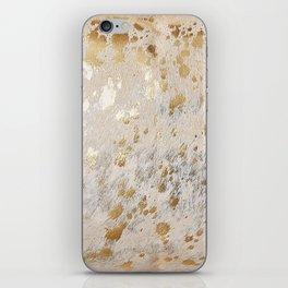 Gold Hide Print Metallic iPhone Skin
