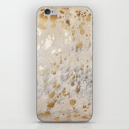 Gold Hide Print Metallic iPhone Skin