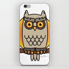 Owl in a Circle iPhone Skin