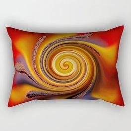 Orange Spiral Rectangular Pillow