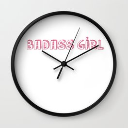 Badass Girl Wall Clock