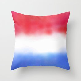 Flag of Netherlands 3 - with cloudy colors Throw Pillow