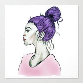 Hair Bun Version2 Canvas Print