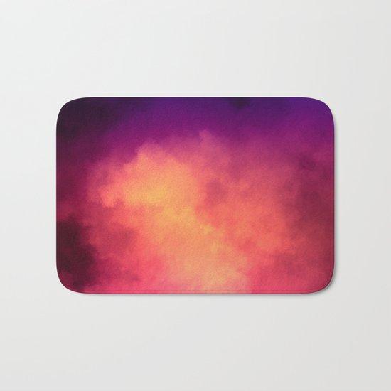 Rainbow Sky Clouds Bath Mat