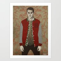 stiles Art Prints featuring Stiles Alpha by Sudjino