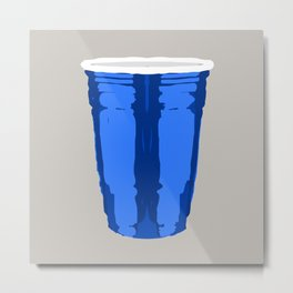 CLARITY CUP BLUE (BIG) Metal Print
