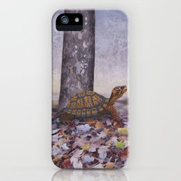 eastern box turtle in the forest iPhone Case