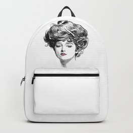 Gibson Girl with Green Eyes and Pink Lips Backpack