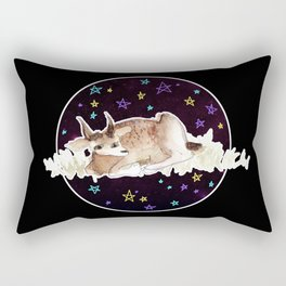 Derp Bambi in Space Rectangular Pillow