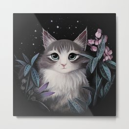 Minty the cat Metal Print