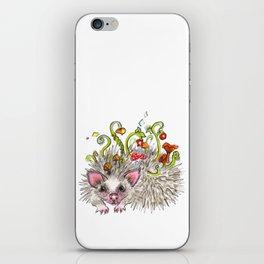 Hedgehog the forest spirit, animal illustration iPhone Skin