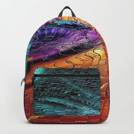 Sidewalk Graffiti Art in vivid color Backpack