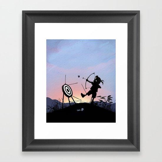 Hawkeye Kid Framed Art Print