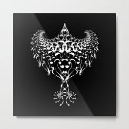 Tribal Eagle on black Metal Print