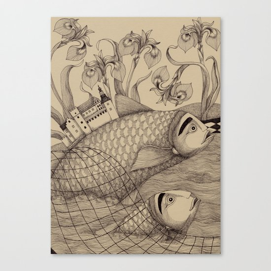 The Golden Fish (1) Canvas Print
