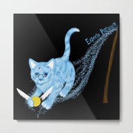 Expecto Patronum Kitty Metal Print