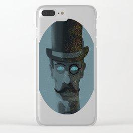 Intergalactic Gentleman, vintage meets surreal. Clear iPhone Case