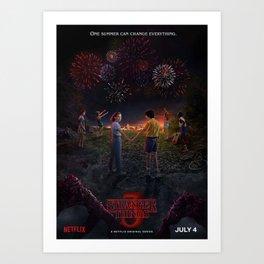 Stranger Thing Movie Art Print