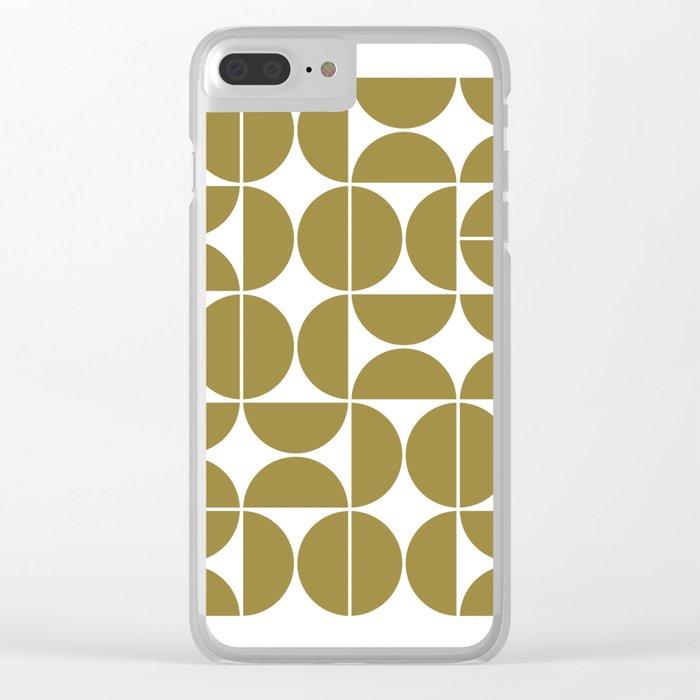 Mid Century Modern Geometric 04 Flat Gold Clear iPhone Case