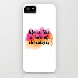 Box of chocolates iPhone Case