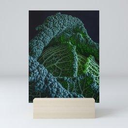 Still life with savoy cabbage l Food Photography Art Mini Art Print