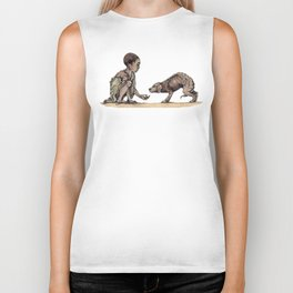 Boy and Puppy Biker Tank