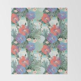 frog garden Throw Blanket