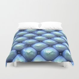 Silky reflection, blue Duvet Cover