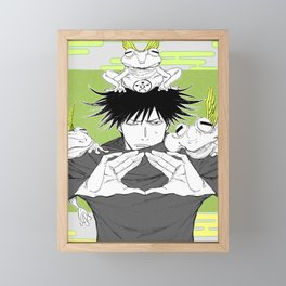 Megumi Fushiguro Framed Mini Art Print