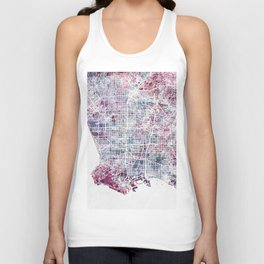 Los angeles map Unisex Tank Top