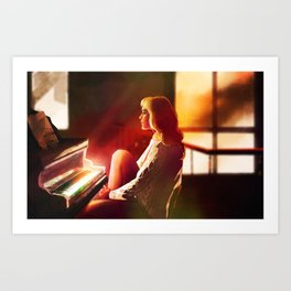 Across the Grooves: Piano Art Print