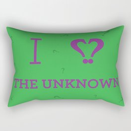 I heart The Unknown Rectangular Pillow