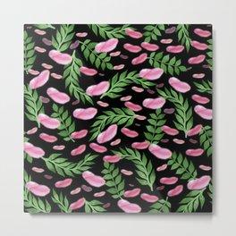 flying leaves in pink Metal Print