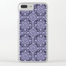 Azulejo Floral Pattern Clear iPhone Case