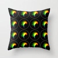 parrot Throw Pillows featuring Parrot by Klara Acel